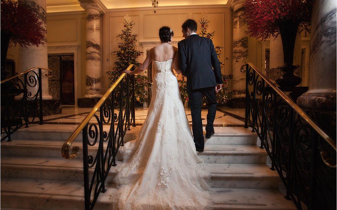 Alex & Nick's Winter wedding at The Langham – London.
