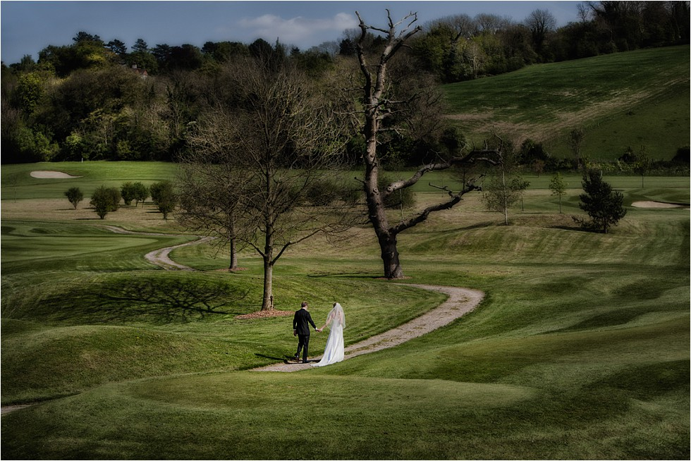 Documentary wedding photography at Woldingham Golf Club, Surrey