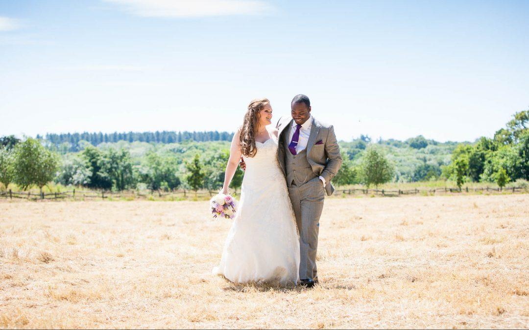 First look wedding photographer Northbrook Park Surrey